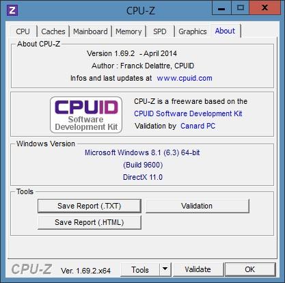 CPU-Z частота памяти