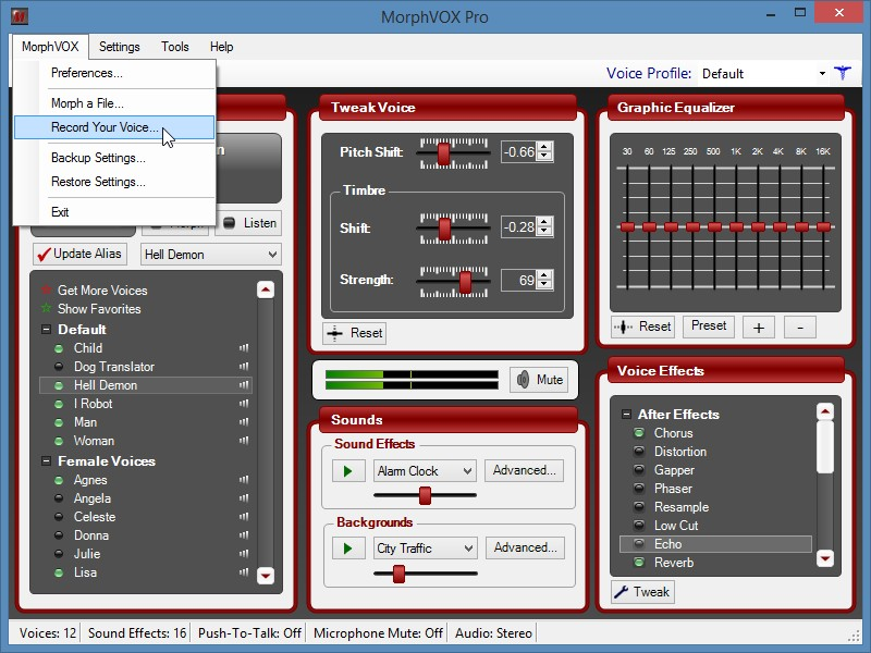 MorphVOX Pro как записать голос