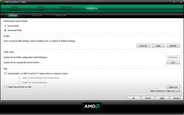 Скачать бесплатно AMD OverDrive