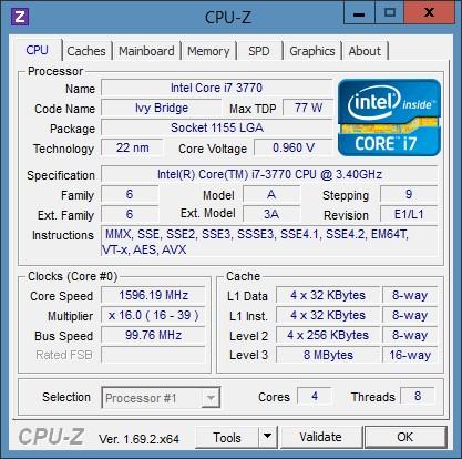 CPUID CPU-Z скачать на русском для Windows 7