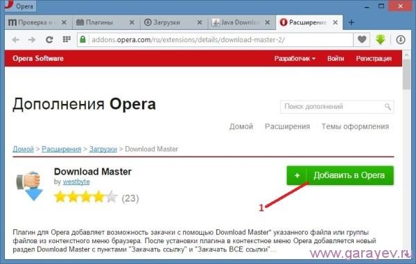 Скачать Download Master расширение