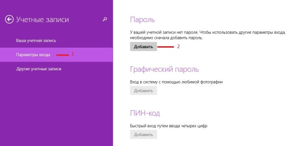 пароль администратора windows 8