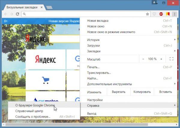 Так можно произвести обновление браузера хром бесплатно