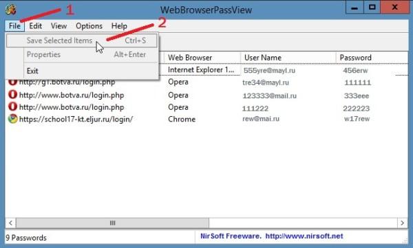 WebBrowserPassView скачать бесплатно на русском