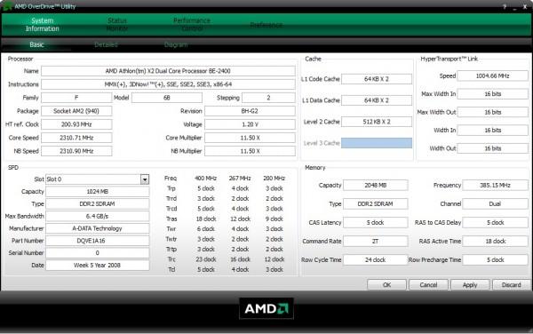 AMD OverDrive настройка