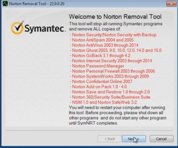 Любые продукты и в том числе Norton Internet Security удаление делает за 2 минуты